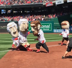 edd3fe64b Nationals Presidents Race Opening Day Abe Cheats Teddy Wins ...