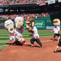 On opening day, Teddy Roosevelt breaks presidents race losing streak with help from an unlikely ally