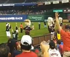 Teddy Roosevelt wins Nationals presidents race