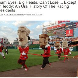 From DCist: An Oral History of the Nationals racing presidents, and a major first admission of conspiracy
