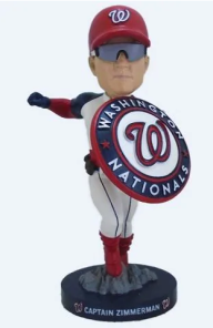 Ryan Zimmerman Bobblehead Washington Nationals Bobbleheads Captain Zimmerman