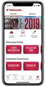 Nationals Ballpark App